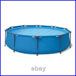 10ft x 30in Round Above Ground Swimming Pool 305cm76cm for Adult, Kids