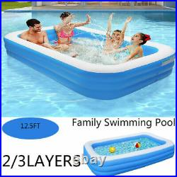 12.5FT 3Layer Inflatable Swimming Pool Family Kid Adult Water Play Fun Backyard