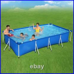 13.1ft x 6.9ft x 32in Rectangular Above Ground Swimming Pool for Adult Kids
