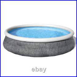 13ft x 33in Round Above Ground Swimming Pool with Filter Pump 573 for Adult Kids