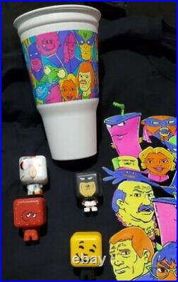 2021 Carl's Jr. Hardees Adult Swim Collectibles complete set Happy Star mascot