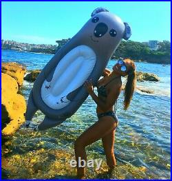 2 Inflatable pool float sloth & koala swimming raft toy lounger for adults kids