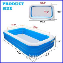 3Layer 12.5FT Inflatable Swimming Pool Family Kid Adult Water Play Fun Backyard