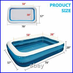 3Layer Inflatable Swimming Pool Family Kid Adult Water Play Fun Backyard 12.5FT