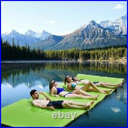 3-Layer Floating Water Pad Water Sports Float Mats Kid Adult Pet Family Relaxing
