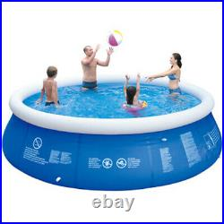 6/8/10ft Round Inflatable Swimming Pool Above Ground for Kids Adults With Pump