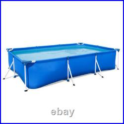 9.8ft x 6.6ft x 26in Rectangular Above Ground Swimming Pool for Kids Adult FDA