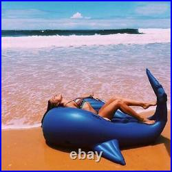 Adult Kid Giant Inflatable Whale Float Swimming Ring Ride On Shark Summer Toys