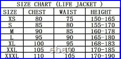 Adult Men's Smooth Skin Life Vest Jackets Outdoors Drifting Swimming Accessories