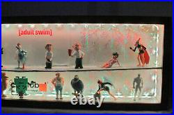 Adult Swim Figures Series 1 Full Set -light Display Case- Awesome Deal