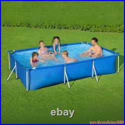 Bestway 9.8ft x 26in Rectangular Above Ground Swimming Pool Frame for Kids Adult
