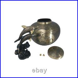 Funeral Urns, Large Swimming Dolphin Adult Urn for Human Ashes