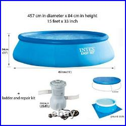 INTEX Large Family Swimming Pool Easy Pump Inflatable Adult Children's Summer