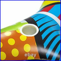 Inflatable Floats For Adults 4 Person Swimming Pool Lake Raft Heavy Duty Large