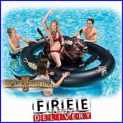 Inflatable Ride On Pool Toys Swimming Adult Kid Children Floating Island Bull