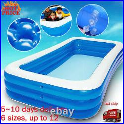Inflatable Swimming Pool Adults Kids Pool Bathing Tub Outdoor Indoor Swimming