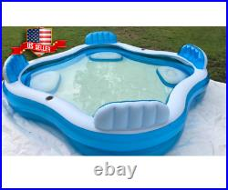 Large Inflatable Swimming Pool Lounge Sturdy for Kids Adult Family