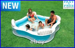 Large Inflatable Swimming Pool Lounge Sturdy for Kids Adult Heavy Duty Play day