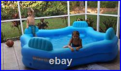 Large Inflatable Swimming Pool Play Lounge Sturdy Adult Family Kid Backyard New