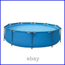 Newest 10ft x 30in Round Above Ground Swimming Pool 305cm76cm for Adult, Kids