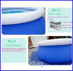 Outdoor PVC Inflatable Swimming Pool Summer Water Sports Adult Kids With Pump
