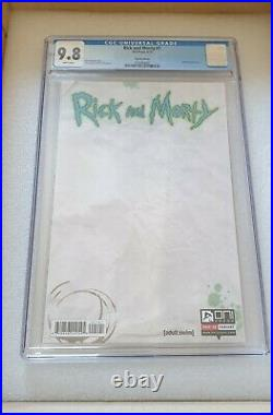 Rick and Morty #1 Blank Sketch Variant First 1st Print CGC 9.8 Adult Swim RARE