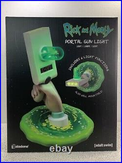 Rick and Morty Light Lamp Portal Gun Official New In Box Adult Swim Paladone