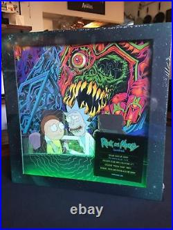 Rick and Morty Soundtrack Colored LP BOX SET Deluxe Light Up Cover + Poster + 7